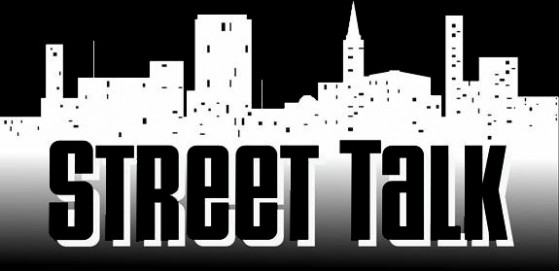 Street Talk Band Logo - White on Black